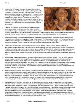 Hinduism- Grade 7