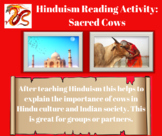 Hinduism Interactive Reading with Questions - Sacred Cows
