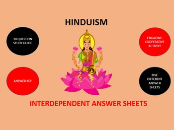 Hinduism: Interdependent Answer Sheets Activity