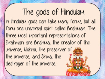 Hinduism Lesson PowerPoint and Worksheets
