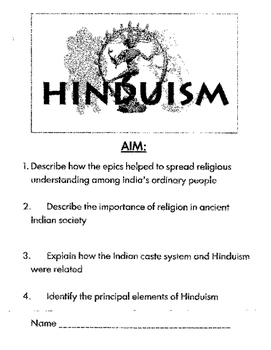 Hinduism: Stations Lesson plan! Great Activity to understa