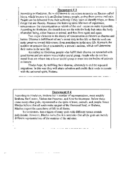 Hinduism Vs. Buddhism DBQ Assignment