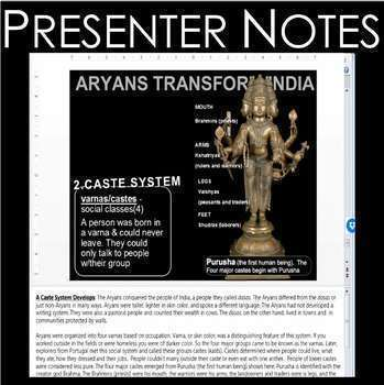 Hinduism (World Religions) PowerPoint w/Video Clips + Presenter Notes