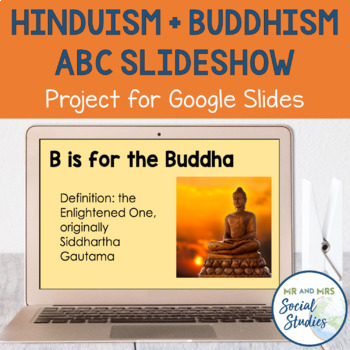 Hinduism and Buddhism ABC Slideshow Project for Google Slides
