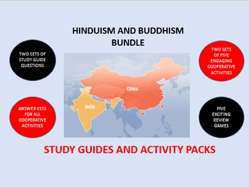 Hinduism and Buddhism Bundle: Study Guide/Activity Packs