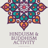 Hinduism and Buddhism Venn Diagram and Thesis Activity