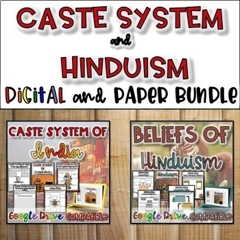 Caste System and Hinduism Bundle {Digital AND Paper}