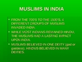 Hinduism and Islam in India