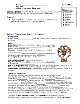 Day 006_World Religion - Hinduism and the Caste System - L