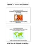 Hindus and Hinduism Vocabulary Workbook