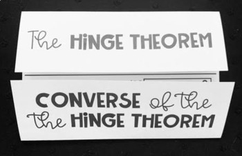 Hinge Theorem and its Converse- Geometry Foldable