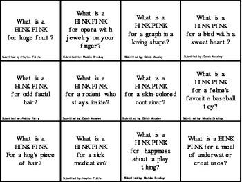 Hink Pink Game