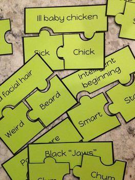 Hink Pink Word Puzzles Set 1