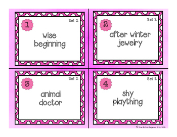 Hink Pinks: Critical Thinking Task Cards!