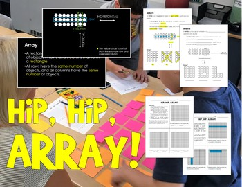 Hip, Hip, Arrays! - PowerPoint Lesson, Notes, and Activity