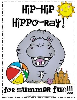 Hip Hip Hippo-Ray! Writing Activity
