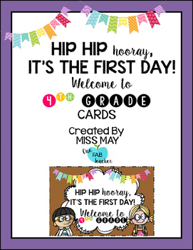 Hip Hip Hooray! It's The First Day! (Fourth Grade Edition)
