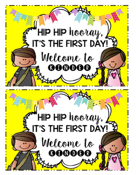 Hip Hip Hooray! It's The First Day! (Kinder Edition)