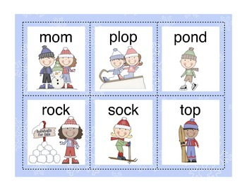 Short and Long Vowel O - Hip Hip Hooray! It's a Snow Day!