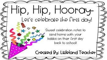 Hip, Hip, Hooray- Let's celebrate the first day!