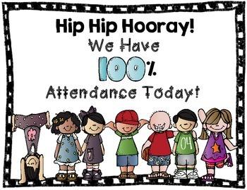 Hip Hip Hooray Perfect Attendance