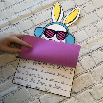 Hip Hip into Spring Bunny Craft and Writing