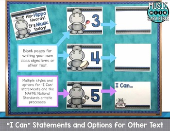 Hip-Hippo Hooray, It's Music Today! Standards and Statements Templates