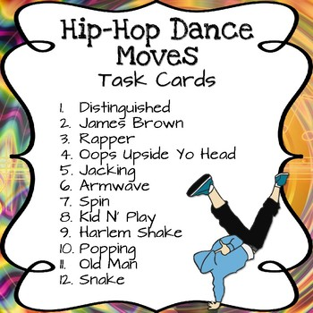 hip hop dance moves task cards by ms g s teaching ideas tpt