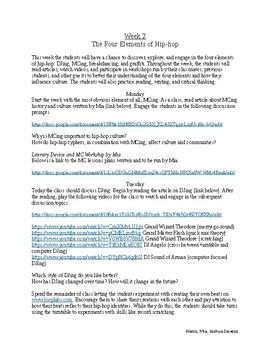 Hip-Hop Education Curriculum