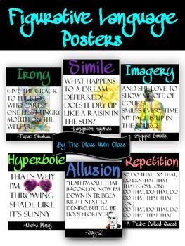 Hip-Hop Figurative Language Poster Set