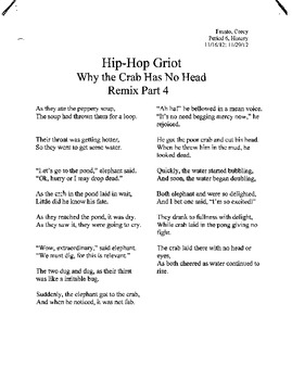 Hip Hop Griot; Rapping African Folktales & Oral  Traditions