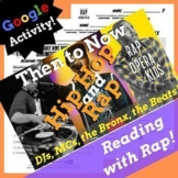 Google Forms ELA Figurative Language Activities Using Hip Hop History Rap Song