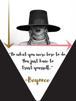 Hip Hop Music BEYONCE Growth Mindset Motivational POSTERS for Teachers