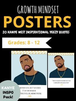 hip hop music kanye west yeezy growth mindset motivational posters
