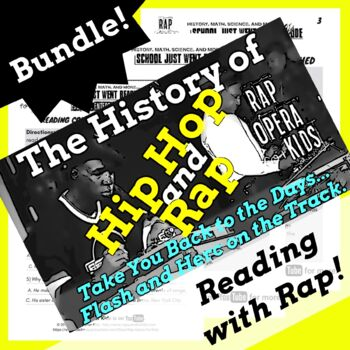 Hip Hop History Lesson 1: Rap and Hip Hop Reading Passage Activities Using Song
