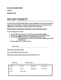 Hip Hop Project Aligned to Common Core