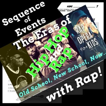 Hip Hop & Rap Music History 3, Sequence of Events Reading Passage with Rap  Song
