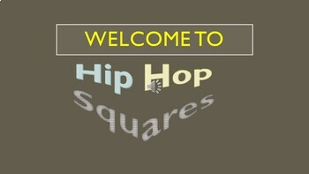 Hip Hop Squares PowerPoint Game Template