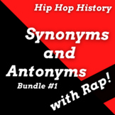 History of Hip Hop Synonyms & Antonyms Worksheets with Pas