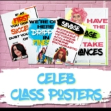 Hip Hop and Pop Celebrity Posters Class Decor