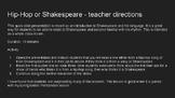 Hip-Hop or Shakespeare slide activity
