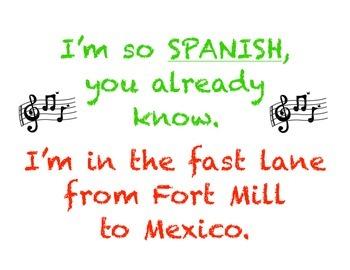 Hip Spanish Poster - Middle School - Classroom Decor