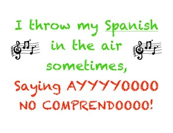 Hip Spanish Poster - Middle School - Classroom Decor