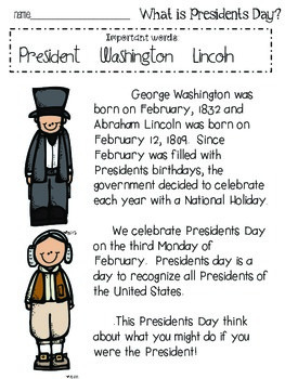 Hip hip Hooray it's {Presidents Day!}