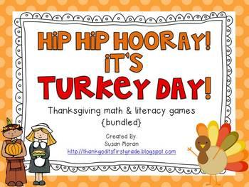 Hip hip hooray - It's Turkey Day! {ELA & Math Bundle}