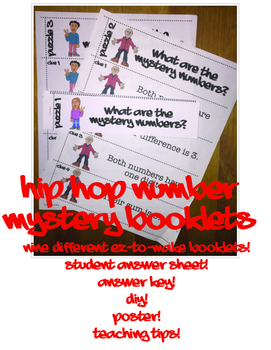 HipHop Math Mysteries 9 Four-Step Problem Solving Booklets