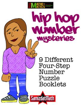 HipHop Math Mysteries 9 Four-Step Problem Solving Booklets