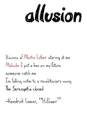 Hiphop Literary Device Poster: Allusion