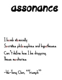 Hiphop Literary Device Poster: Assonance