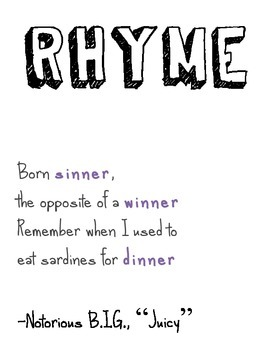 Hiphop Literary Device Posters: Set of 12!